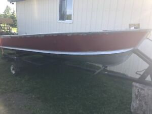 14ft boat, motor, and  trailer