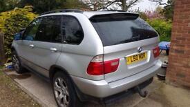 BMW X5 silver 3litre diesel