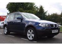 2004 BMW X3 2.5 i Sport 5dr LEATHER, SAT NAV, X DRIVE, PAN SUNROOF, FULLY LOADED, PX WELCOME