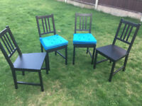 4 Chairs Ikea Stefan inlcuding cushions