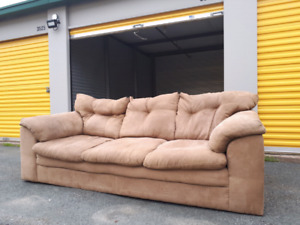 Beige Suede Couch **Delivery Included**