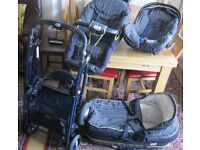 ELITE - 3 in 1 -Travel System Carry Cot Stroller, Buggy, Car Seat,