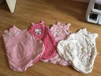8 baby girl sleep bags 0-6, 6-12 and 12-18 months