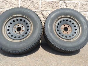 265/70/17 Directional Winter Tires & Rims