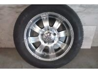 ALLOYS X 4 OF 18 INCH GENUINE EMRO 4X4 PCD IS 139.7MIL/FULLY POWDERCOATED INA STUNNING SHADOW/CHROME