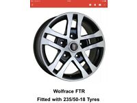 FTR 18 inch brand new alloys fitted with 235/50-18 tyres