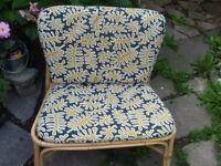 cane garden chair with cushion