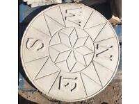 Compass circle decorative paving centre piece or decorative feature