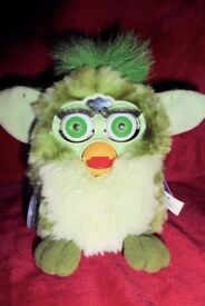 Vintage 1998 Green Furby by Tiger Electronics, Good Condition, Histon