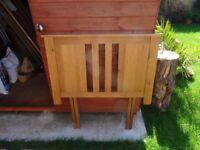 Single Head Board solid Oak with all fittings