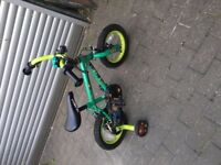 Child's bike with Stabilisers and Helmet - NEED GONE ASAP