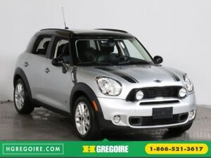 2012 Mini Cooper S AWD CUIR TOIT MAGS BLUETOOTH