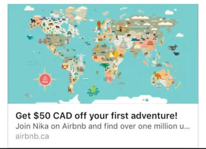 50$ off airbnb