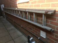 Free Wooden Ladder, 2 section 9m (30 ft) extended