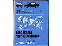 AUTOBOOKS (NOT HAYNES) FORD ESCORT WORKSHOP MANUAL 1967 - 1973 1100 & 1300