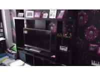 Ikea TV Shelf Unit in Brown