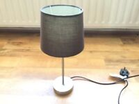 **As New Chrome Touch Table/Bedside Lamp With Chocolate/Brown Shade**