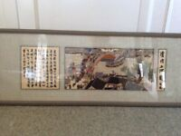 Framed silk Chinese pocture