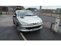 Peugeot 206, 19,430 miles only, Convertible, automatic, leather, AC, full service, MOT Feb 2018