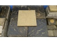 Reclaimed Yellow Heavy duty 600mm x 600mm paving slabs