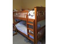 Solid wood bunk bed (M&S)