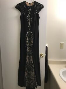 Voila Chan Black beaded dress, and Royal Blue dress