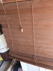 Cappuccino faux wood blinds x 2