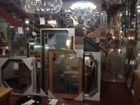 Hundreds of New mirrors small large and massive 1 ft - 8 ft from £5 - £499