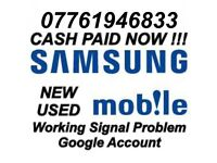 WANTED Samsung Galaxy S8, S8+, S7, S7 Edge Working CASH PAID NOW