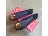 NEW Tory Burch Black Reva Jelly UK5
