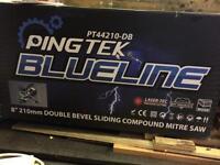 Pingtek blueline double bevel sliding mitre saw