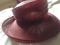 Deep wine beautiful hat