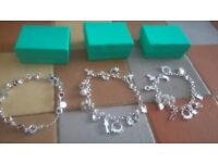 3 Brand New / unused Silver Plated ladies bracelets just £10