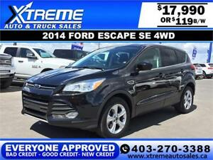 2014 Ford Escape SE 4WD $0 Down $109 BI-WEEKLY APPLY NOW
