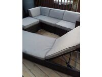 REAL RATTAN CORNER SOFA+LARGE DAYBED CAN DELIVER