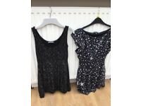 2 Girls Black Dresses excellent condition