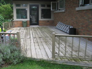 FREE Deck!  350 sq/ft of 5/4 P.T. Decking 10 - 16' lenghts