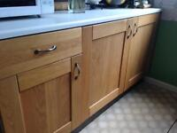 Light oak kitchen unit doors