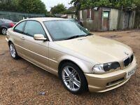 BMW 318CI SE 1995cc Petrol Automatic 2 door Coupe 02 Plate 01/03/2002 Gold