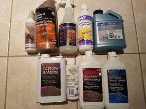 Grout and paint products