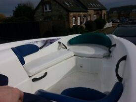 Seadoo jet boat twin rotax 1800 great family day boat 18ft
