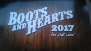 Boots & Hearts weekend pass with camping