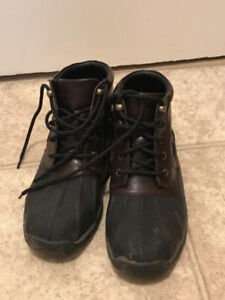 Sperry leather rainboots
