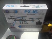 Sky quad drone with camera