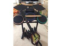Guitar Hero Set & Singstar Microphones x2