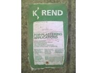K-REND plaster - 2 x 25 kg bags - FREE to a good home