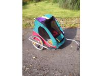 Chariot Bike Trailer- good condition, for 2 kids, locking Weber hitch, inflatable tyres, folds flat.
