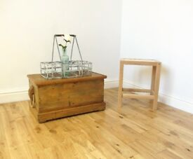 Vintage Pine Storage Box / Coffee Table