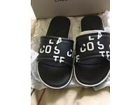 Lacoste sliders size 8