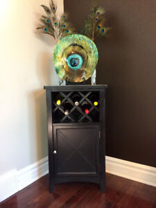 Wood Wine Rack with Cupboard